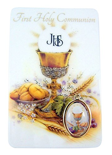 Religious Art First Communion Catholic Holy Prayer Card with - Communion Card First