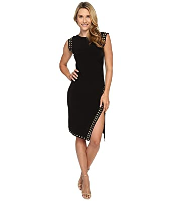 f1111ecbfba Amazon.com  Michael Kors Studded Asymmetrical Hem Dress