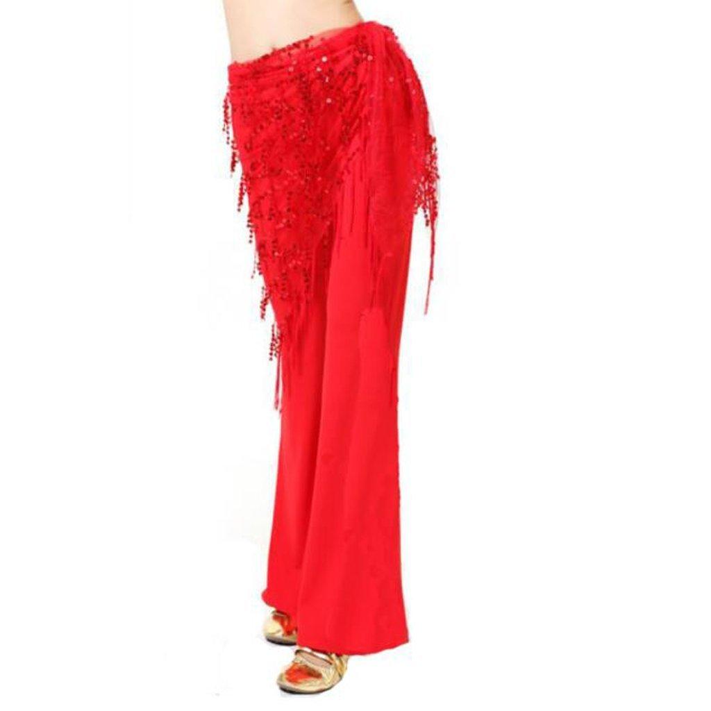 Rony Rass Sciarpa dell'anca della frangia della catena della vita di ballo di danza del ventre dell'India delle donne di modo 1Pcs