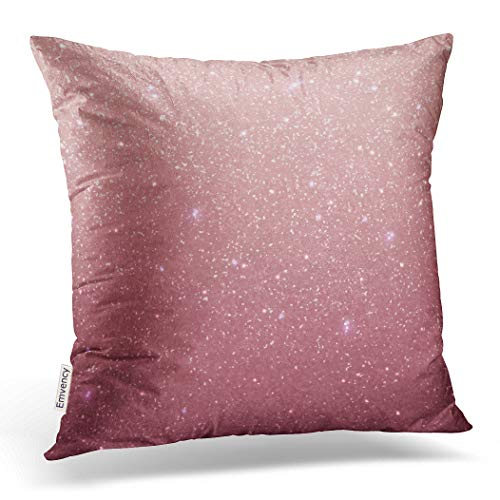 Emvency Decorative Throw Pillow Cover Case for Bedroom Couch Sofa Home Decor Rose gold glitter texture Rose sequins Pink sparkle pattern Square 20x20 Inches Gold Glitter