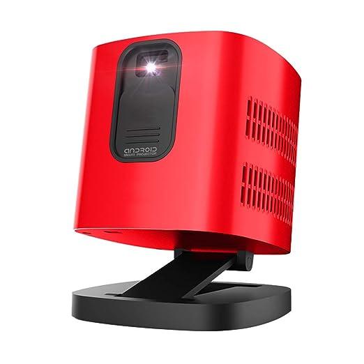 MJ-Brand Micro proyector - hogar pequeño portátil montado en la ...