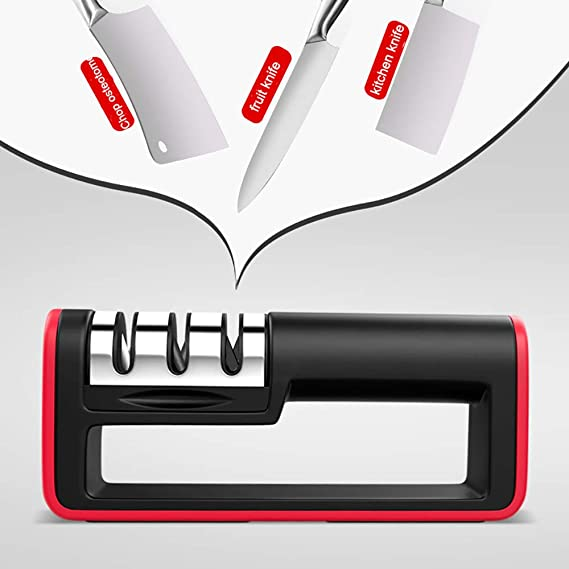 Amazon.com: LIXUAN Kitchen Knife Sharpener,Manual 3-Stage ...