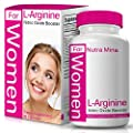 L-Arginine NO2 Nitric Oxide For WOMEN Is An Essential Amino Acid That Aids In Muscle Building And Regeneration To Get Those Lean Muscles You Are Longing For, Made In USA by Nutra Mina - 60 Capsules