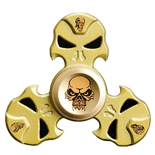 Price comparison product image Fidget Spinner Metal Brass, OWLCE Fidget Toys Stress Reducer Spinning 3 Min+ EDC ADHD Focus Toy Perfect for Adult & Kids,GOLD