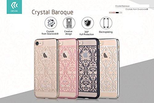 iPhone 7 Case, Devia [Baroque Crystal Series] Original Swarovski Element Hard [PC Transparent] for Apple iPhone 7 (iPhone 7, Gold Baroque)