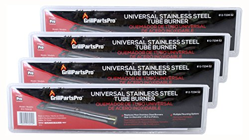(Pack of 4) Brinkmann Universal Stainless Steel Replacement Straight Tube Burner (Adjustable), 1