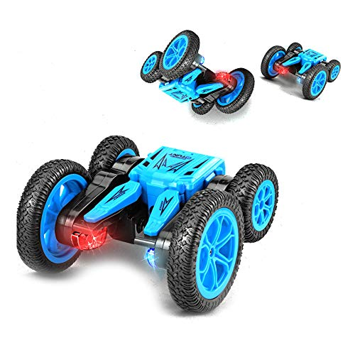 Remote Control Car RC Cars Radio Controlled Cars Fast RC Stunt Car Toys 4WD Monster Truck 2.4GHz 360° Spin 180° Flip Over Double Sided Tumbling Car for Kids Boys Girls 4 5 6 7 8 9-12 Year Old (The Best Radio Controlled Cars)