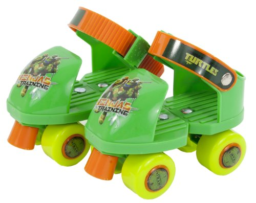 Teenage Mutant Ninja Turtles Rollerskate with Knee Pads, Junior Size 6-12 by PlayWheels