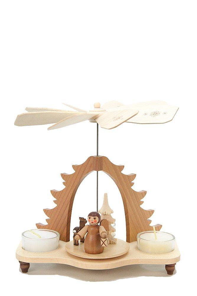 Christian Ulbricht Christmas Pyramid - Angel Natural by Authentic German Erzgebirge Handcraft