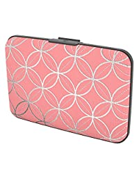 Gift Trenz Security Wallet - Circles and Diamonds, Pink/Silver, One Size