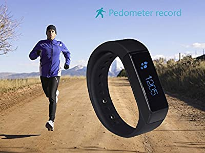 Fitness Tracker Smart Wristband ,Pashion All-in-1 Bluetooth Smart Bracelet with Touch Screen Sleep Monitor and Sports Activity Tracker for Men Women Boys Girls Ladies Man Iphone Sumsung HTC