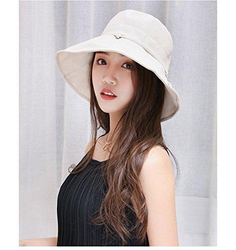 HAPEE Womens Sun Hat,Both Sides wear,UPF 50+ Beach Hat Foldable Wide Brim by HAPEE (Image #5)
