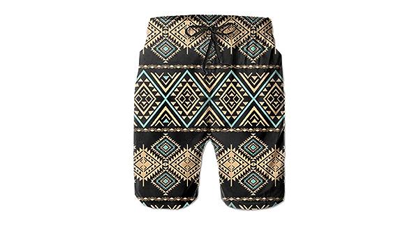 Estampado geom/étrico /étnico odin sky Pantalones Cortos de Hombre Tribal Art Pattern Ba/ñador repetitivo Colorido Azteca