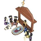 Blossom Bucket Amish Nativity Christmas Decor (Set of 13), 6-1/2 by 7-1/2