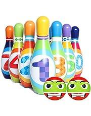 JUSTDOLIFE 12 Parça Çocuk Bowling Seti Geliştirici Bowling Oyunu Bowling Topu ile