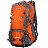 Cheap WASING 45L Internal Frame Backpack Hiking Backpacking Packs for Outdoor Hiking Travel Climbing Camping Mountaineering with Rain Cover WS-45Lpack-orange