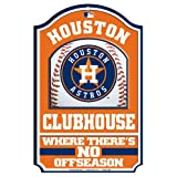 "MLB Houston Astros Fan Cave Wood Sign, 11"" x 17"""