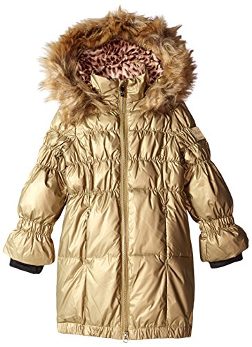 Versace 1969 Sportivo Little Girls' VG Long Down Coat, Metallic/Gold, 5 by Versace
