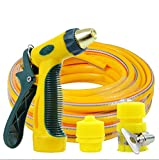 ZLJTYN High Pressure Wash Car Water Gun Household 10m Set Flushing Hose Auto Brush Car Tool Watering Pipe Water Grab Nozzle,10m