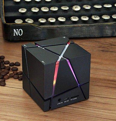 Mini Portable LED Bluetooth Speaker Wireless Bass For Smartphone Tablet MP3 PC (Black)