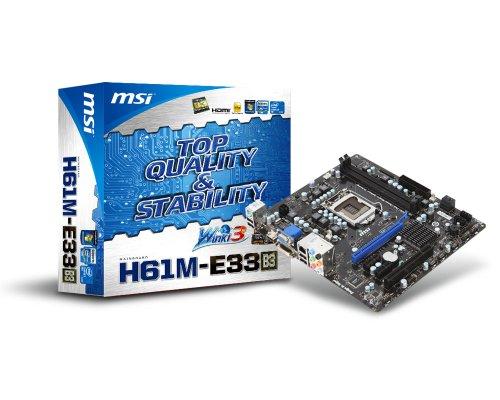Dual Channel Msi (MSI H61M-E33 (B3) LGA1155 Intel H61 B3 DDR3 A&GbE MATX Motherboard)