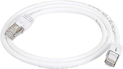Basics RJ45 Cat 7 High-Speed Gigabit Ethernet Patch Internet Cable 15 Foot White