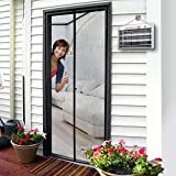 "Magnetic Screen Door 36 x 96, Mosquito Patio Screens Magic Door Mesh 36 X 96 Fit Doors Size Up to 34""W X 95""H Max with Full Frame Velcro French Back Door Curtain Keep Fly Bug Out"