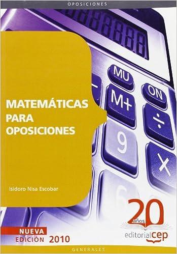 Matemáticas para Oposiciones