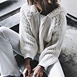IEason Women top Women Hooded Pearl Long Sleeve Knitted Pullover Sweater Jumper Tops Knitwear