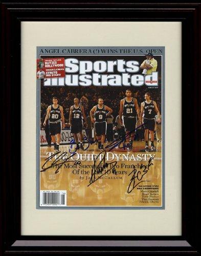 Framed Tim Duncan Sports Illustrated Autograph Replica Print - San Antonio Spurs -