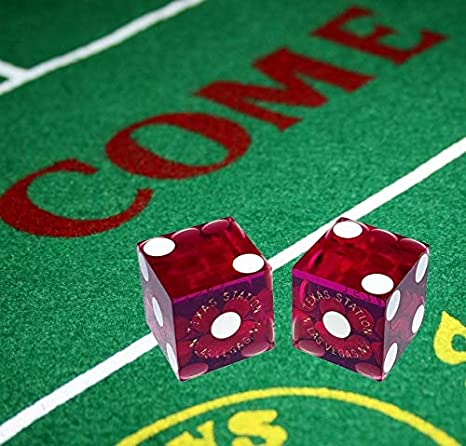 Caesars Casino Las Vegas 19mm Authentic Table-Played Dice Cyber-Deals Pair Red 2