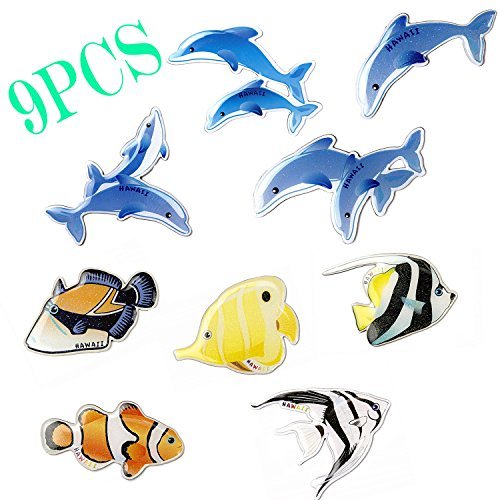 Fish Fridge Magnets, 9 PCS Magnets Fridge Kids, 3
