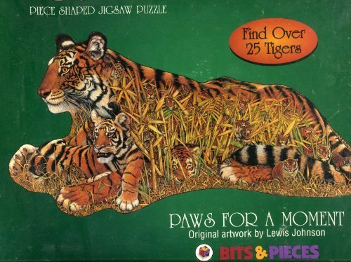 Paws for a Moment - By Lewis Johnson - 650 Piece Puzzle - Find Over 25 Tigers.
