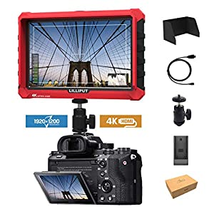 "Lilliput A7S 7"" 1920x1200 IPS Screen Camera Field Monitor 4K 1.4 HDMI Input output Video For DSLR Mirrorless Camera SONY A7S II A6500 Panasonic GH5 Canon 5D Mark IV by LILLIPUT OFFICIAL SELLER VIVITEQ"
