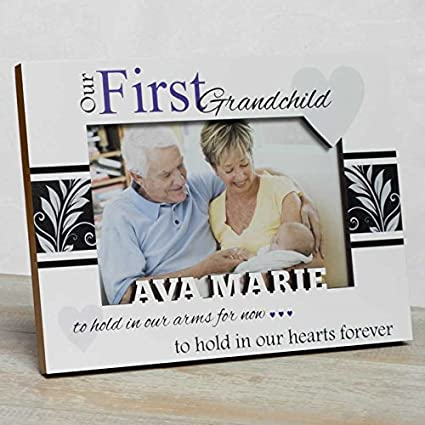 Amazon.com: Personalized Baby Picture Frame, First Grandchild Frame ...