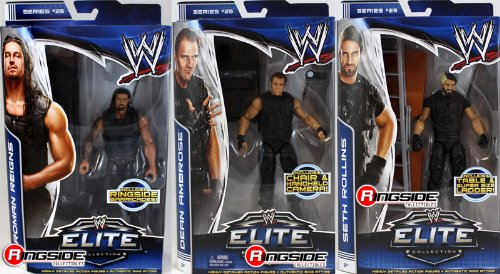 **PACKAGE DEAL** THE SHIELD (DEAN AMBROSE, SETH ROLLINS & ROMAN REIGNS) - WWE ELITE MATTEL TOY WRESTLING ACTION FIGURES (The Shield Toys Wwe)