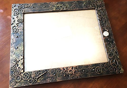 STEAMPUNK Picture frame, Steampunk photo frame, Steampunk GIFT, Steampunk 11x14 frame, Burning...