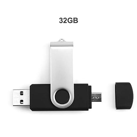 2-en-1 USB Flash Drive Pen Drive Externo portátil Memory Stick USB 2.0