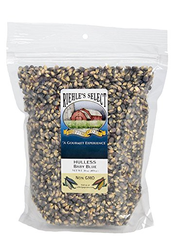 Organic Blue Cheese (Riehle's Select Popping Corn - Hulless Baby Blue Whole Grain Popcorn - 30oz Resealable Bag)