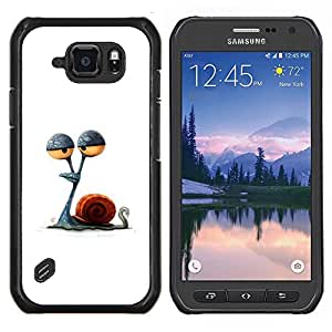 Dragon Case - FOR Samsung Galaxy S6 active/G870A/G890A (Not Fit S6) - snail eyes stoned minimalist drawing - Caja protectora de pl??stico duro de la cubierta Dise?¡Ào Slim Fit