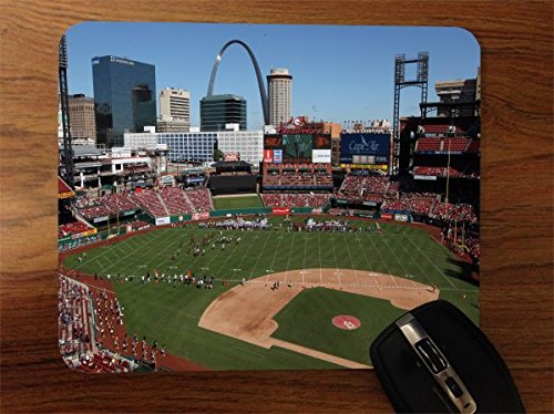 Baseball Stadiums Desktop Office Silicone Mouse Pad by Compass Litho