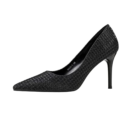 7a49b121c9a69 Amazon.com: YXB Women's High Heels 2019 New PU Pumps Sexy Pointed ...