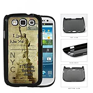 Statue Of Liberty Postcard New York Hard Plastic Snap On Cell Phone Case Samsung Galaxy S3 SIII I9300