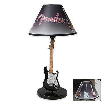 Fender guitar table lamp black amazon fender guitar table lamp black aloadofball Gallery
