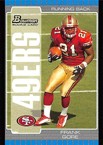 (2005 Bowman Football #130 Frank Gore RC Rookie Card San Francisco 49ers Official NFL Trading Card From Topps )