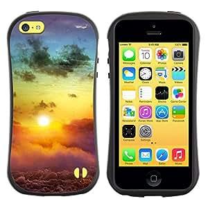 LASTONE PHONE CASE / Suave Silicona Caso Carcasa de Caucho Funda para Apple Iphone 5C / Sunset Beautiful Nature 113