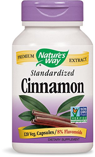 Way Tabs 60 Natures - Nature's Way Premium Extract Standardized Cinnamon 8% Flavonoids, 120 Vcaps