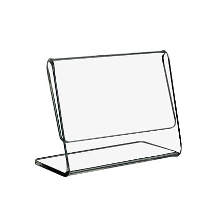 10 St/ück DIN A9 37x52mm Preisschildhalter//Preisaufsteller im Hochformat aus Acrylglas