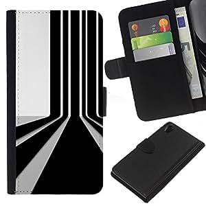 Stuss Case / Funda Carcasa PU de Cuero - Código de barras de pared - Sony Xperia Z2 D6502