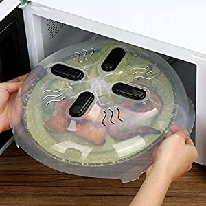 Microwave Essentials Magnetic Microwave Cover Splatter Guard and Vents for Small and Large Kitchen Plates | BPA Free Hover Microwavable Cover for Safe Reheating | FDA Approved | 11.5 Inches